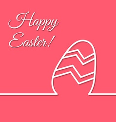 Happy Easter holiday simple line egg poster vector image