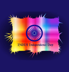 Happy indian independence day celebration isolated vector