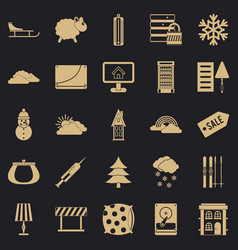 Home furnishing icons set simple style vector
