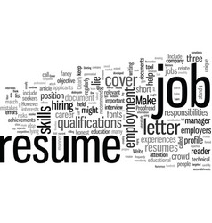 How to write a resume that stands out from the vector