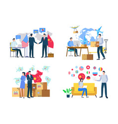 Import or export delivery goods world vector