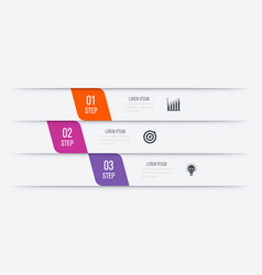Infographics 3 options vector