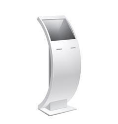 Information Kiosk POS POI Terminal Stand vector image