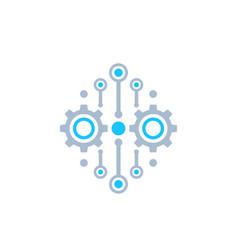 Integration automation concept icon vector