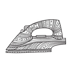 iron in boho style vector image