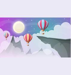 landscape mountain air ballon vector image