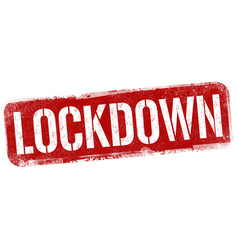 lockdown grunge rubber stamp vector image