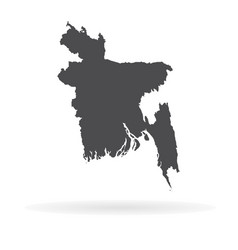 Map bangladesh isolated vector