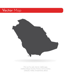map saudi arabia isolated vector image