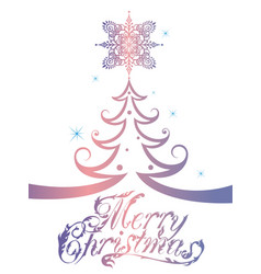 merry christmas tree vector image