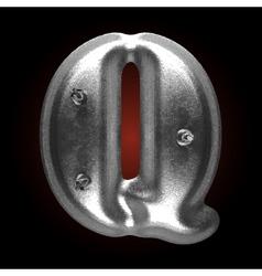 Metal construction figure q vector