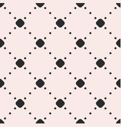 minimalist seamless pattern with circles and dots vector image