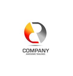 modern initial letter r logo vector image