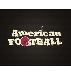 Modern unique american football poster with on vector image