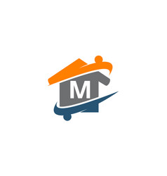 parenting life home care initial m vector image