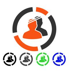 Patients diagram flat icon vector