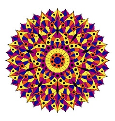 Pattern with chakra manipura vector