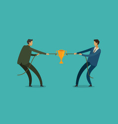 people pulling opposite ends of rope business vector image