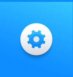 preferences icon with cogwheel vector image
