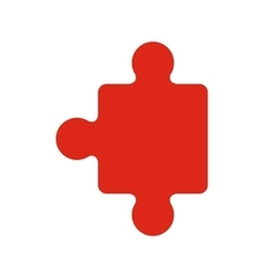 Red piece of jigzaw puzzles vector