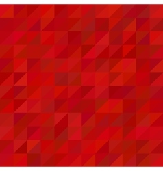 Red triangle pattern background vector image