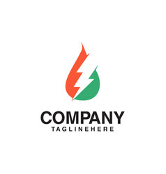 resources logo gas oil and thunder logo vector image