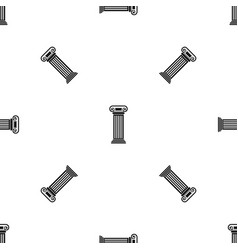 roman column pattern seamless black vector image