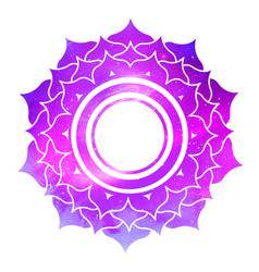 Sahasrara chakra with outer space vector