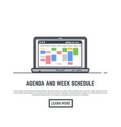 Schedule online app vector