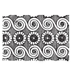scroll-rosette pattern is a stylized flower vector image