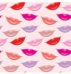Seamless lips pattern vector image