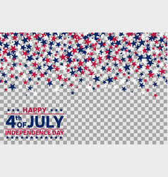 seamless pattern with stars for 4th july vector image