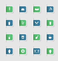 Set a collection unique paper stickers fast vector