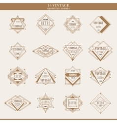 set line abstract geometric logotypes or vector image
