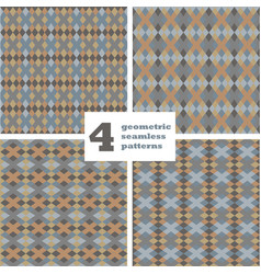 set of geometric seamless pattern abstract vector image