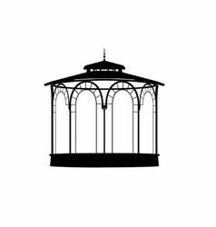 Shadow of a bandstand vector