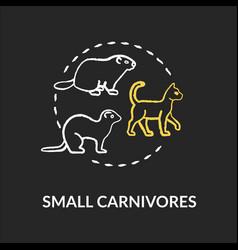 small carnivores chalk rgb color concept icon vector image