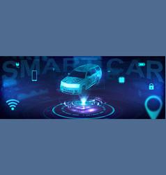 Smart auto banner vector