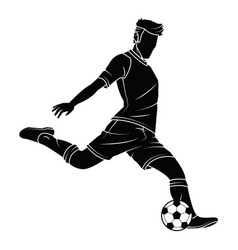 soccer football silhouettes player vector image vector image