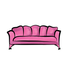 Sofa furniture sign interior detailed couch vector