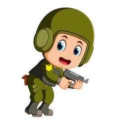 special force soldier vector image