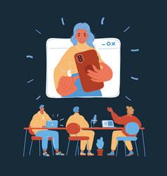 video meeting online woman vector image