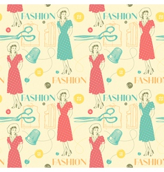 Vintage Fashion Pattern Background vector image vector image