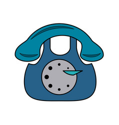vintage rotary telephone icon image vector image