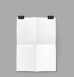 White sheet of paper on background vector image