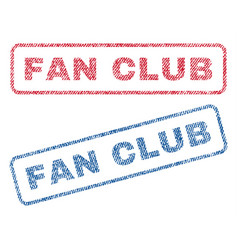 fan club textile stamps vector image vector image