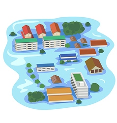 flood vector image vector image