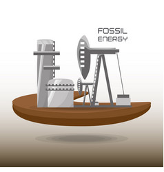 landscape related with fossil energy vector image