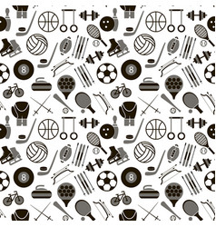 sport signs and symbols black background pattern vector image vector image
