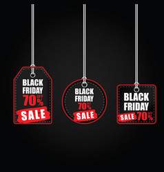 tag of balck friday with best offer on it color vector image